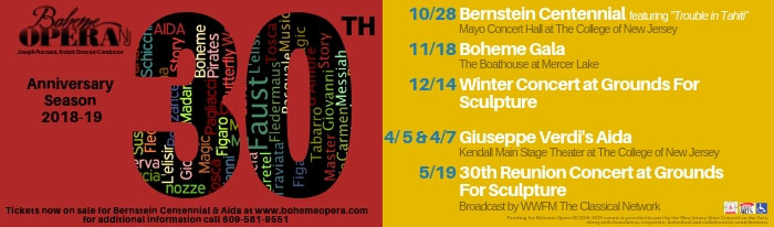 70b33360 On Sunday, October 28 at 3:00pm, Boheme Opera NJ celebrates the 100th
